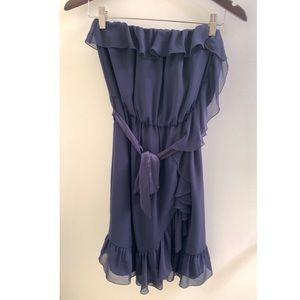H&M Navy Ruffle Dress